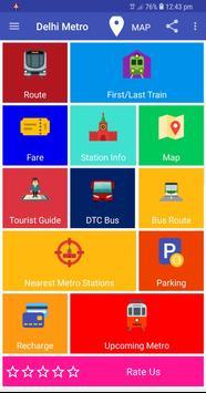 Delhi Metro Route Map and Fare poster