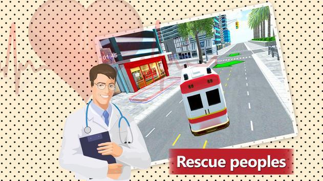 911 Ambulance Rescue Simulator Game 2018 screenshot 4
