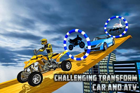 Transform Racing 2018: Car, Quad Bike & Airplane screenshot 9