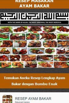 Resep Ayam Bakar Nusantara poster