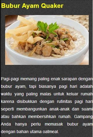 Resep Masakan Quaker Oat For Android Apk Download