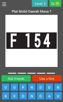 Tebakan Kode Plat Mobil screenshot 2