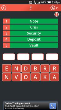 1 Word 5 Clue Brain Game apk screenshot