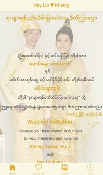 Nay Lin & Khaing's Wedding poster