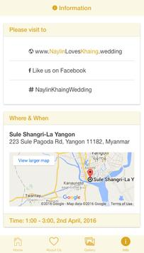 Nay Lin & Khaing's Wedding apk screenshot