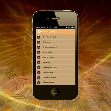 Amaral Canciones de Letra screenshot 1