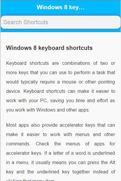 Shortcuts for Windows 10 for Android - APK Download
