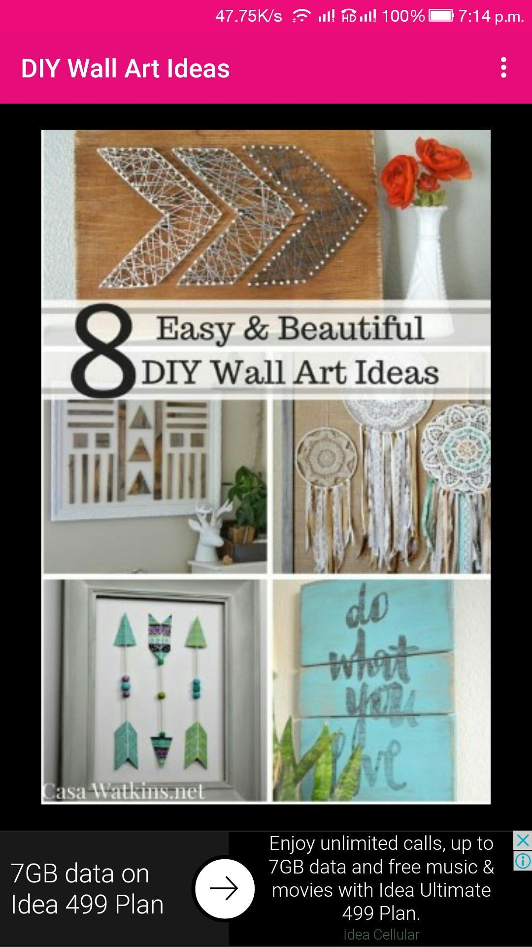 Diy wall art decor ideas for android apk download