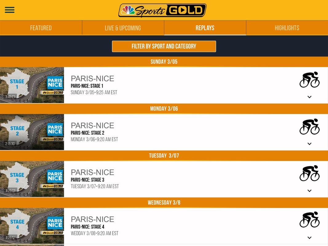 nbc sports gold android tv