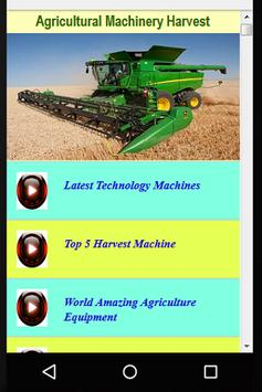 Agricultural Machinery Harvest poster