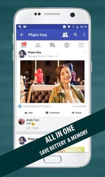 Fast for Facebook Lite poster