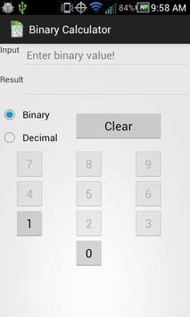 Ad-Free Binary Calculator poster