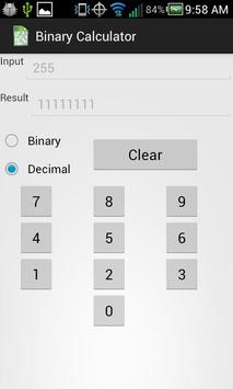 Ad-Free Binary Calculator apk screenshot