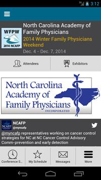 2014 NCAFP Winter Weekend poster