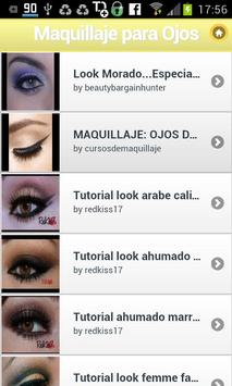 Maquillaje para Ojos poster