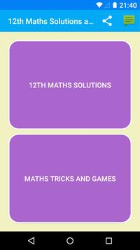 Maths 12th Solutions for NCERT poster