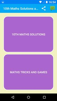 Maths X Solutions for NCERT poster