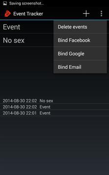 Event Tracker screenshot 1