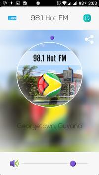 98.1 Hot FM poster