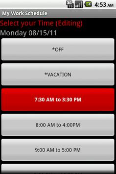 My Work Schedule apk screenshot