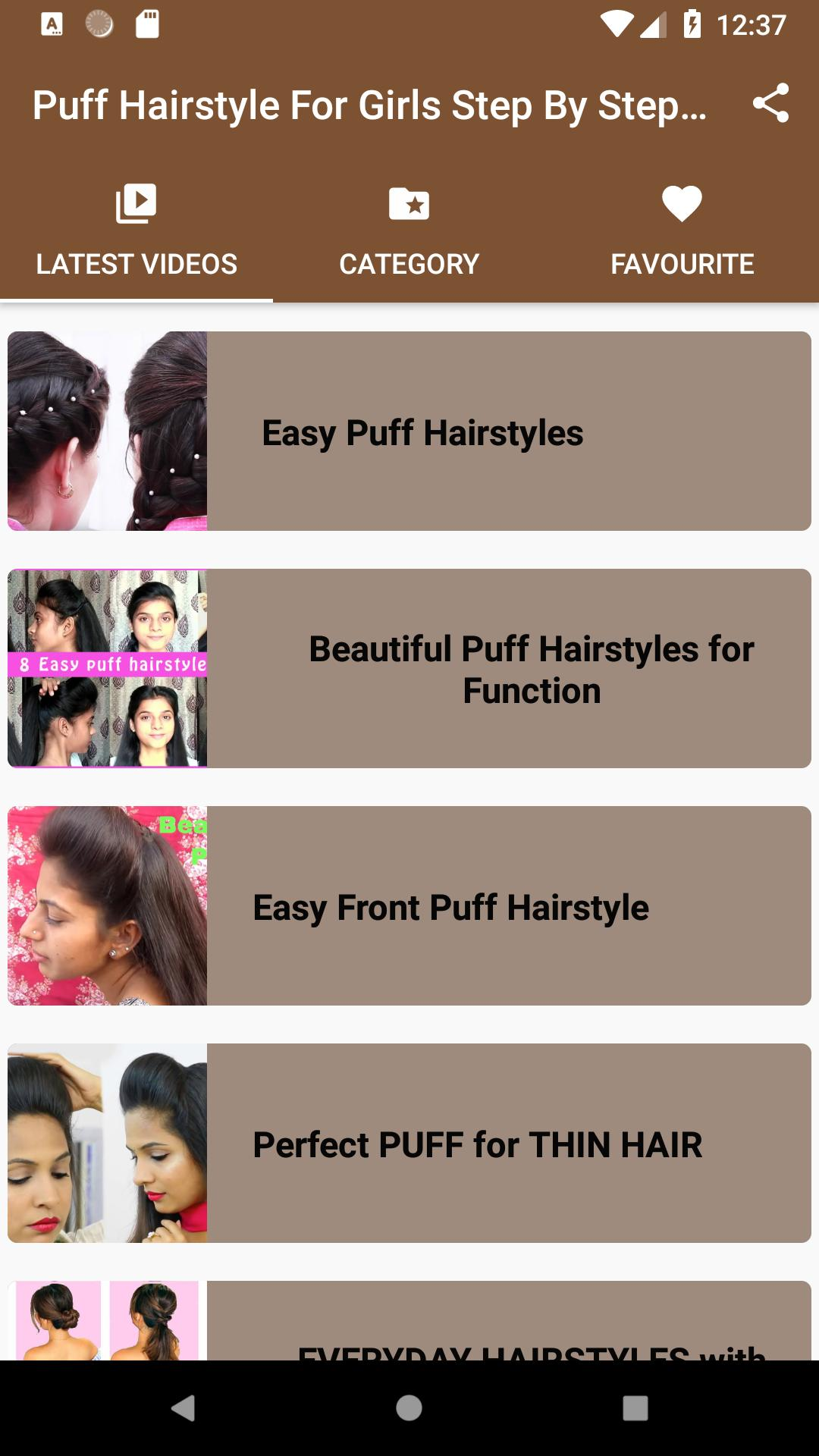 Puff Hairstyle For Girls Step By Step App Videos For Android