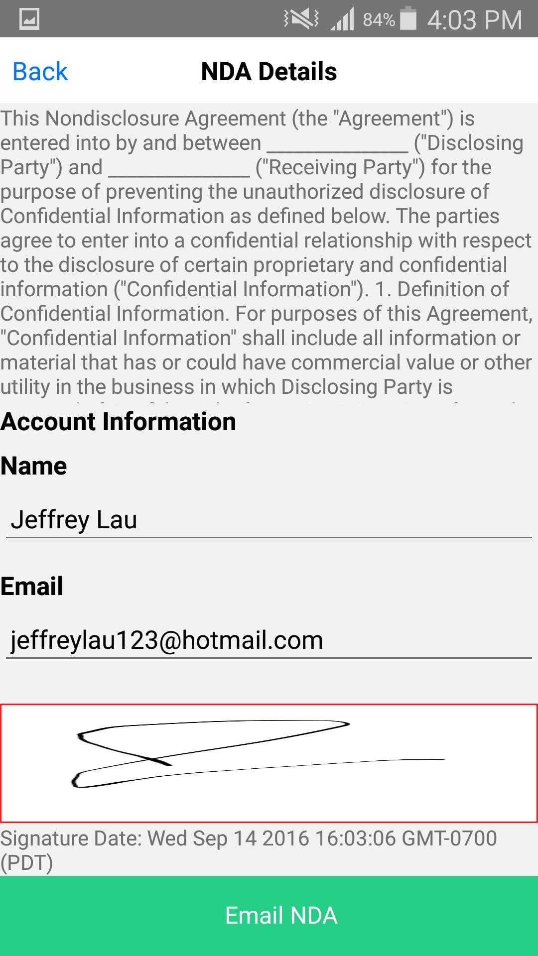 Non Disclosure Agreement Nda For Android Apk Download