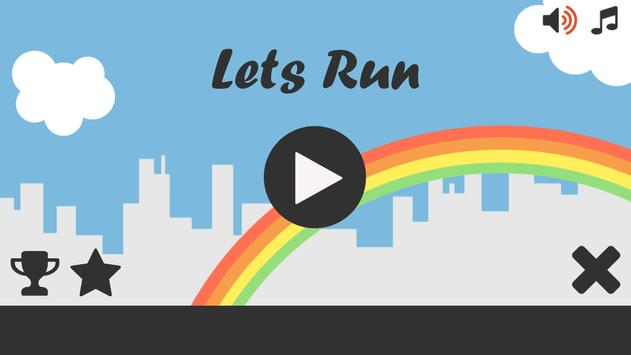 Lets Run with Stickman poster