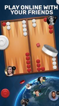 Free Backgammon Go: Best online dice & board games poster