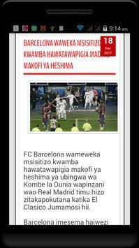 Magazeti na Blogs za Michezo Tz screenshot 4