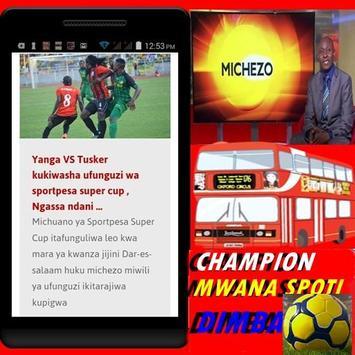 Magazeti ya Michezo Tanzania apk screenshot