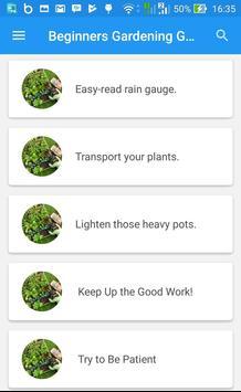 Beginners Gardening Guide apk screenshot