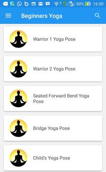 Beginners Yoga apk screenshot