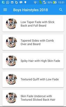 Boys Hairstyles 2018 apk screenshot