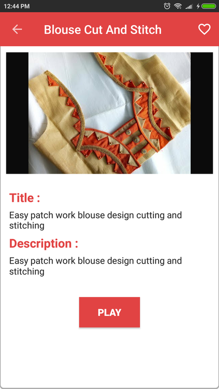 patch design blouse video