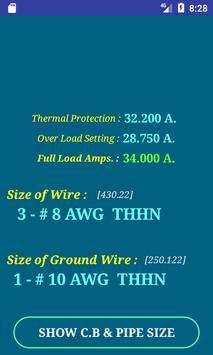 NEC Conductor Size Calc FREE screenshot 3