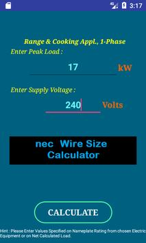 Nec wire size calculator free apk download free tools app for nec wire size calculator free poster nec wire size calculator free apk screenshot keyboard keysfo