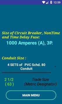NEC Conductor Size Calc FREE screenshot 1