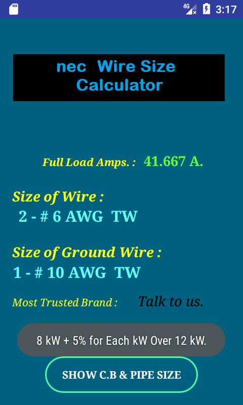 Attractive wire size calculator model schematic diagram series nec wire size calculator free descarga apk gratis herramientas keyboard keysfo Image collections