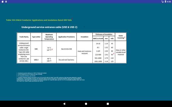NEC Conductor Size Calc FREE screenshot 7