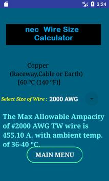 Nec conductor size calc free for android apk download nec conductor size calc free screenshot 4 keyboard keysfo Choice Image