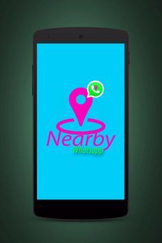 Find nearby Friend in whatsapp poster