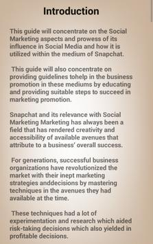 The Art Of Snapchat Marketing For Business Guide apk screenshot