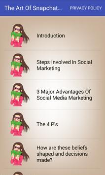The Art Of Snapchat Marketing For Business Guide screenshot 2