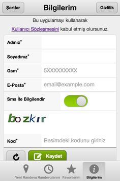 Cepten Randevu apk screenshot