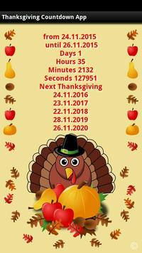 Thanksgiving Countdown App poster