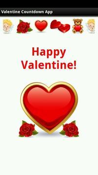 Valentine Countdown App poster