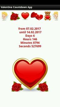 Valentine Countdown App screenshot 1