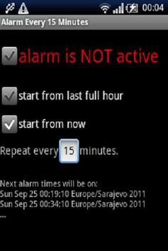 Alarma cada 15 minutos captura de pantalla 2