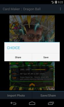 Card Maker︰Dragon Ball screenshot 3