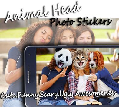 Animal Head Photo Stickers poster